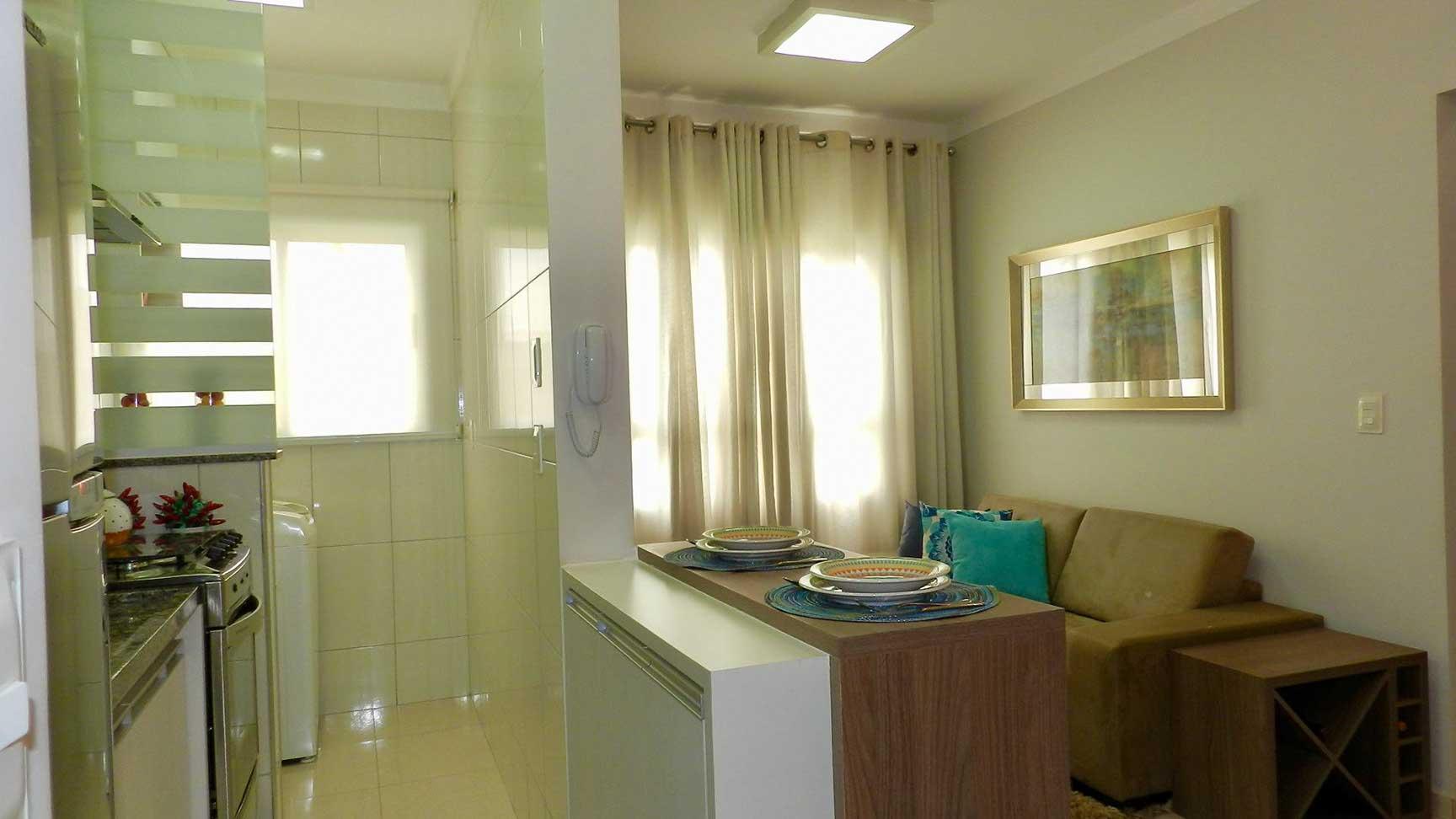Cozinha com Sala TV